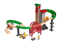 BRIO 63388700 Großes Lagerhaus-Set mit Aufzug