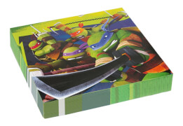 20 Servietten Teenage Mutant Ninja Turtles 33 x 33 cm